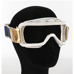 "Lynda Carter ""Wonder Woman"" motorcycle goggles and skateboarding kneepads from Wonder Woman."