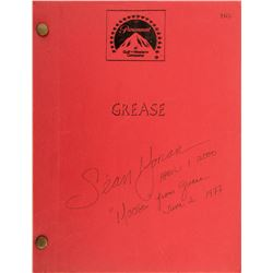 Sean Moran 'Moose' personal signed shooting script from Grease.