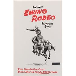 Ewing Rodeo mounted prop event poster from Dallas.