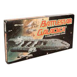 Battlestar Galactica Milton Bradley board game autographed by Jefferson and Lockhart.