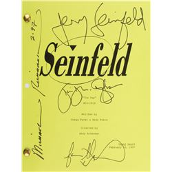 Seinfeld (4) episode table-draft scripts, all signed by Jerry Seinfeld, and some by principal cast.