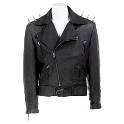 Nicolas Cage 'Ghost Rider' spiked leather stunt motorcycle jacket from Ghost Rider.
