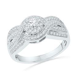 0.50 CTW Diamond Bridal Wedding Engagement Ring 10KT White Gold - REF-49W5K