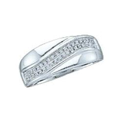 0.15 CTW Diamond Contour Row Ring 10KT White Gold - REF-16Y4X