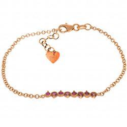 Genuine 1.55 ctw Ruby Bracelet Jewelry 14KT Rose Gold - REF-62W7Y