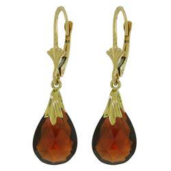 Genuine 6 ctw Garnet Earrings Jewelry 14KT Yellow Gold - REF-27W8Y