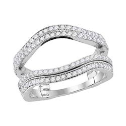 0.76 CTW Diamond Wrap Ring 14KT White Gold - REF-89Y9X