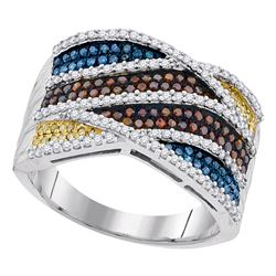 0.75 CTW Multicolor Diamond Fashion Ring 10KT White Gold - REF-79Y4X