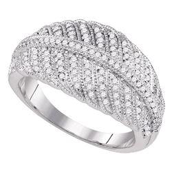 0.40 CTW Diamond Milgrain Ring 10KT White Gold - REF-44M9H
