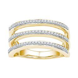 0.25 CTW Diamond Ring 10KT Yellow Gold - REF-34K4W