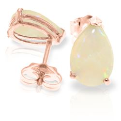 Genuine 1.55 ctw Opal Earrings Jewelry 14KT Rose Gold - REF-22X8M