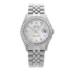 Rolex Pre-owned 36mm Mens String Silver Dial Stainless Steel - REF-610R2M