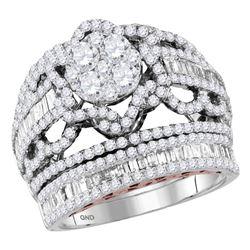 2.52 CTW Diamond Bridal Wedding Engagement Ring 14KT Two-tone Gold - REF-229W4K