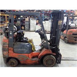 Toyota 4500 LBS LP Lift Truck, M/N: 7FGCU25