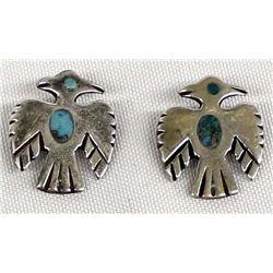 2 Vintage Navajo Sterling Thunderbird Pins