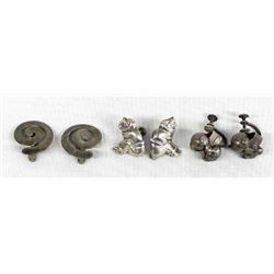 Mexican Sterling Clip-On & Screwback Earrings