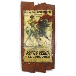 Decoupage Barcelona Spain Bullfight Poster
