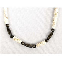 Navajo Sterling and Shell Heishi Necklace
