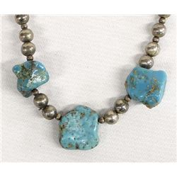 Vintage Navajo Natural Turquoise Necklace