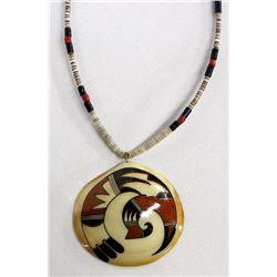 Native American Santo Domingo Pendant Necklace