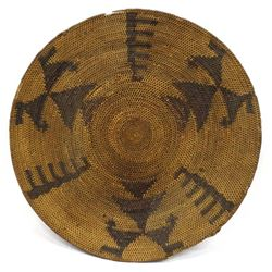 Vintage Paiute Parching Basketry Tray