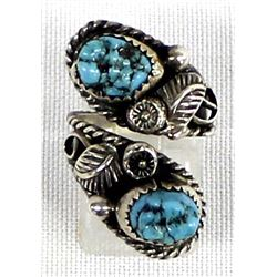 Navajo Sterling Turquoise Adjustable Ring