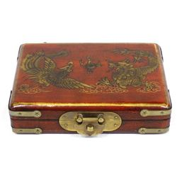 Vintage Chinese Wood Card Box