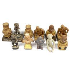 Schering Pharmaceutical PreColumbian Statues