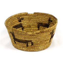 Historic Papago (Tohono O'odham) Figural Basket