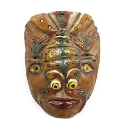 Mexican Hand Carved Wood Lobster Mask