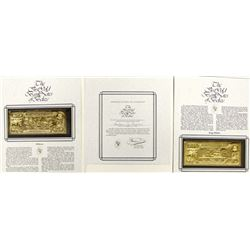 Two Belize Gold Bank Notes