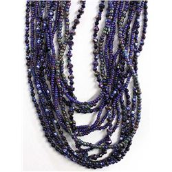 Multi-Strand Plains Indian Beaded Glass Necklace
