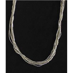 Navajo Fine Liquid Sterling Silver Necklace