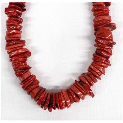 Branch Stacked Coral Choker Necklace