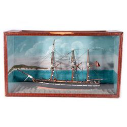 A 19th century nautical diorama.