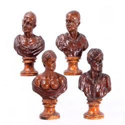 Four busts circa 1700.