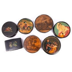 Seven 18th/19th century snuff boxes.