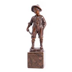 Cast bronze Tom Sawyer.