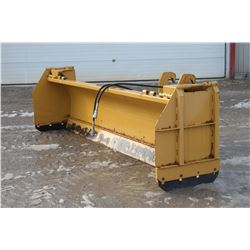 Horst HLA 4000 12' hyd. angle snowblade, spring trip, cutting edge, box ends, Cat QT