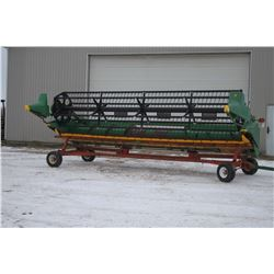 "JD 920F 20' flex head, 3"" knife, poly snout, poly bottom, low acres"