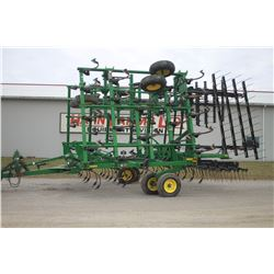 2013 JD 2210 45' C-tine cultivator, 4 bar coil tine harrow, knock off sweeps, rear hitch and hyd