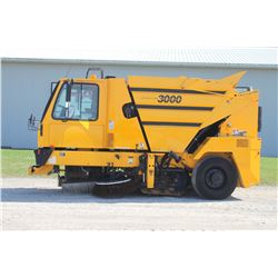 2001 Johnson 3000 self propelled sweeper, 1223 hrs, Municipal Unit