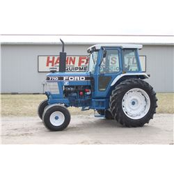 Ford 7710 II 2wd tractor, cab, air, Dual power, 16.9R X38, 2 remotes, 4438 hrs