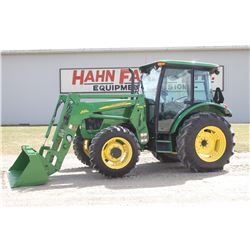 2008 JD 5425 4wd tractor, cab, air, 542 loader, 16.9x30, power reverser, 2369 hrs