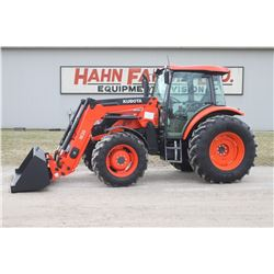 2015 Kubota M9960 4wd tractor, cab, air,  M36 loader, hyd. shuttle, 18.4x30, 2 remotes, 649 hrs