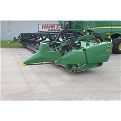 2013 JD 640FD 40' flex draper, double drive fine cut knife, low acres, long dividers, used on Hahn f