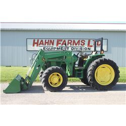 JD 6300 4wd tractor, rops, 640 SL loader, 16.9x38, power quad, 3795 hrs