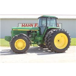 JD 4560 4wd tractor, cab, air, 18.4x46 axle duals, 3 remotes, HID lighting, front weights, one owner