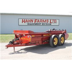 NH 185 tandem axle manure spreader, top beater, end gate, hyd. drive
