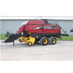 2004 NH BB940A large square baler, roller bale chute, last bale eject tandem axle, roto cut, auto lu